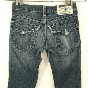 True Religion Straight Jeans Size 29 Flap Pocket